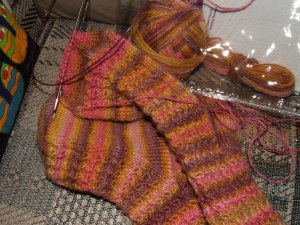 Finished Jester Socks